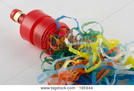 An Exploded Party Popper