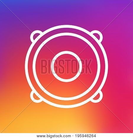 Isolated Loudspeaker Outline Symbol On Clean Background