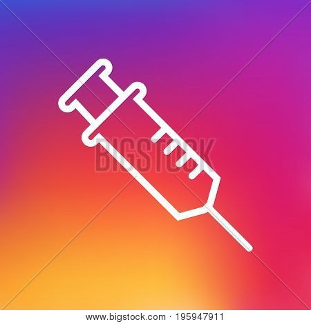 Isolated Injection Outline Symbol On Clean Background