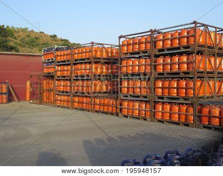 Butane Gas Bottles At Depot