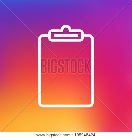 Isolated Information Outline Symbol On Clean Background