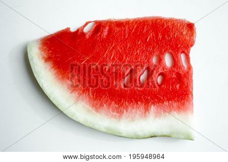 Watermelon. A Red Slice With A Greenish