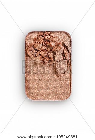 Beige Crushed Eyeshadow For Make Up As Sample Of Cosmetic Product