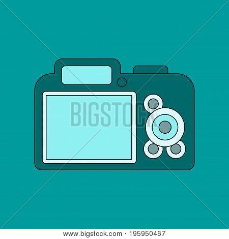 flat icon on stylish background camera internet