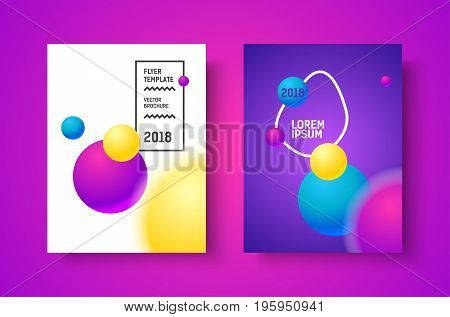 Gradient modern poster. Music vector flyer for print.