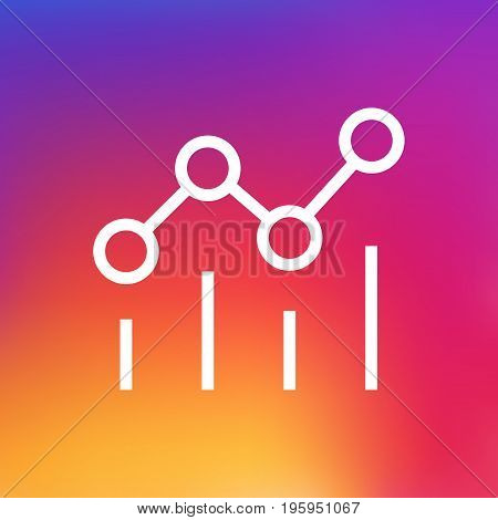 Isolated Statistics Outline Symbol On Clean Background