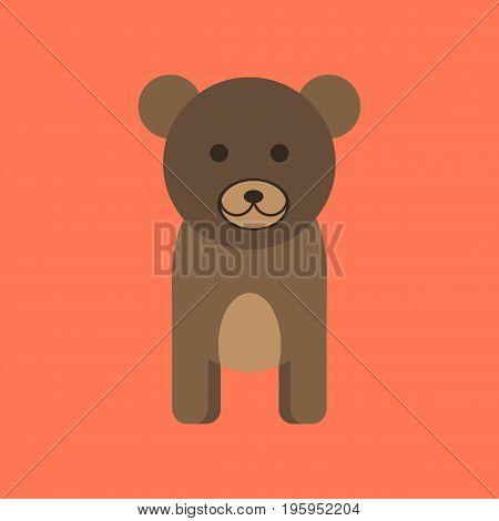 flat icon on stylish background cartoon bear