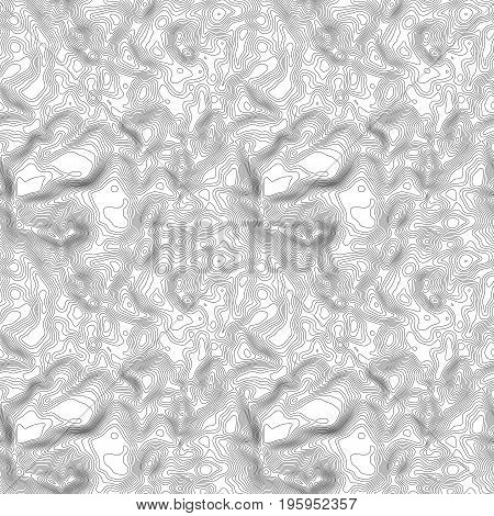 Seamless pattern. Topographic map background with space for copy Seamless texture. Line topography map contour background , geographic grid abstract vector illustration . Mountain hiking trail terrain .