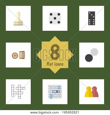 Flat Icon Games Set Of Bones Game, Lottery, Backgammon And Other Vector Objects
