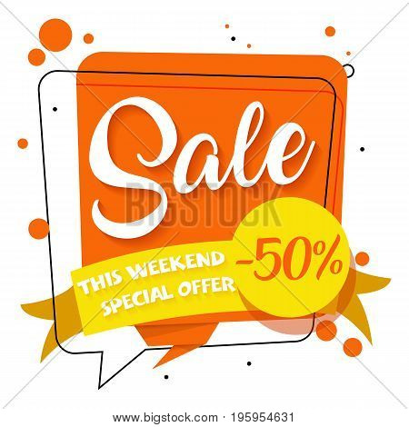 Special offer sticker sale. Promotion tag sale. Price labels. Sale limited offer banner. Advertisement sale template. Limited discount. Vector creative design EPS.