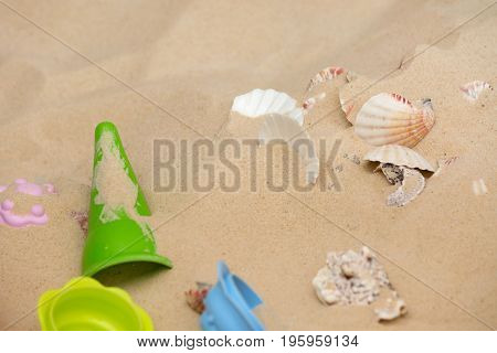Beach Toys In The Sand