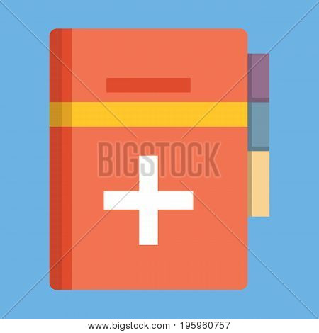 Medical book icon vector illustration in flat style