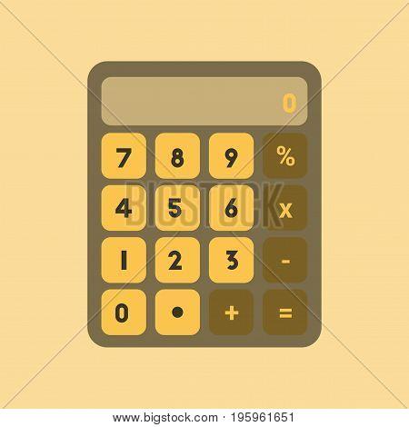 flat icon on stylish background electronic calculator