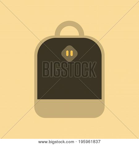 flat icon on stylish background school bag