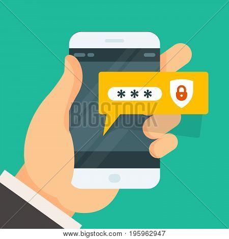 Password entering on smartphone - smart phone login