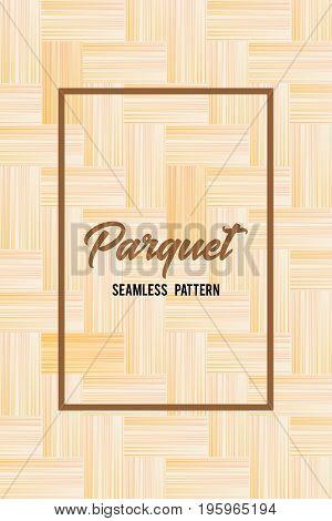 Wooden texture seamless pattern. Parquet background 2. Vector illustration