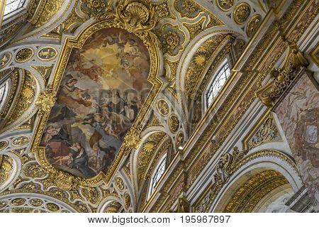 Church Saint Agnes (Santa Agnese) in Agone. Church by Francesco Borromini. 17-th century Baroque church in Rome. Italy June 2017