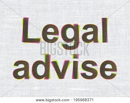 Law concept: CMYK Legal Advise on linen fabric texture background