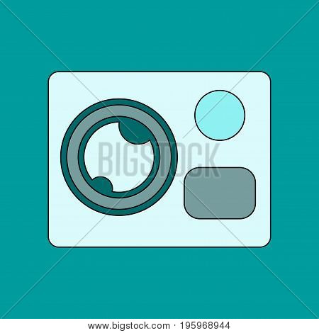 flat icon on stylish background technology camcorder
