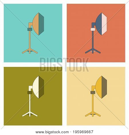 assembly of flat icon technology professional lighting