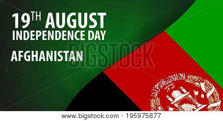 Independence Day Of Afghanistan. Flag Of Afghanistan. Patriotic Banner. Vector Illustration.