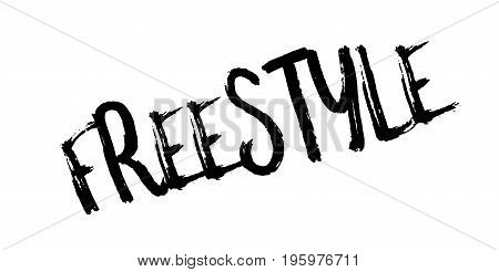 Freestyle rubber stamp. Grunge design with dust scratches. Effects can be easily removed for a clean, crisp look. Color is easily changed.