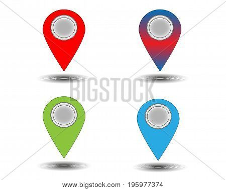 Map marks for web sites of the companies, firms, etc.