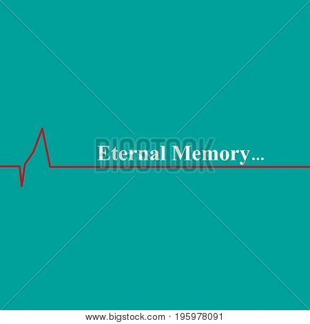 Heartbeat icon. Scale heartbeat. Eternal Memory background
