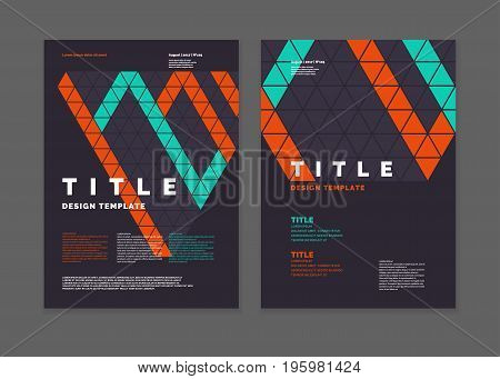 Template for a magazine about music, modern journal. Vector poster.