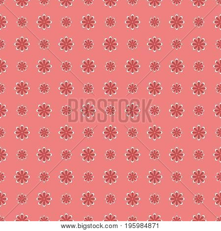 Small flower pattern. Vintage floral seamless background.