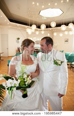 Wedding Ceremony Of Beautiful Young Gorgeous Stylish Bride And Groom