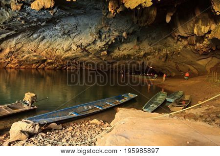 The biggest cave in Laos, Konglor Cave in Laos