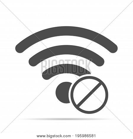 Wireless icon with shadow. No access to the wireless