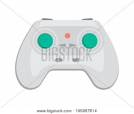 Wireless keypad for game console icon in cartoon style. Game gadget, cybersport digital device, control console for, video game isolated vector illustration.