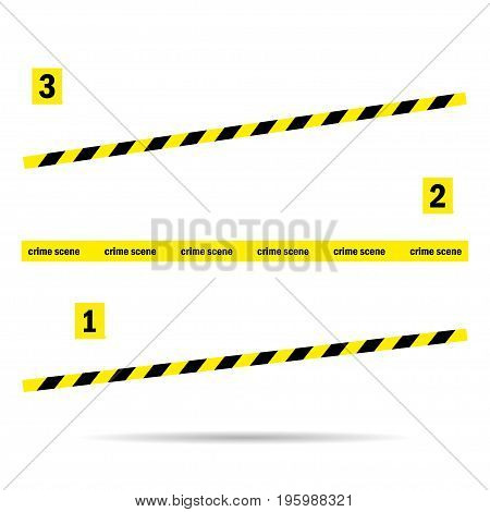 Place tape yellow incident on a white background
