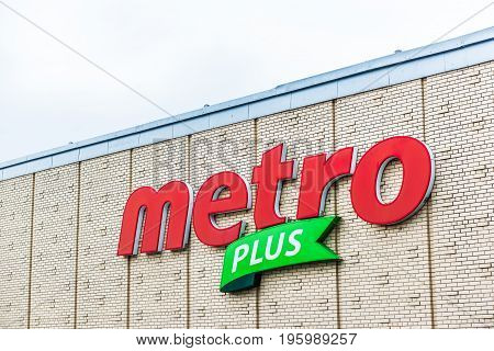 Montreal, Canada - May 26, 2017: Metro Plus Grocery Store In City In Quebec Region Closeup