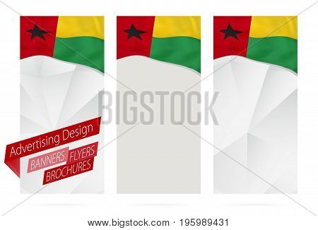 Design Of Banners, Flyers, Brochures With Flag Of Guinea-bissau.