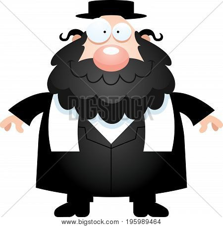 Happy Cartoon Rabbi