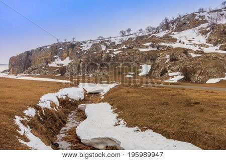 Geological Reservation Cheile Dobrogei located in Constanta county Romania