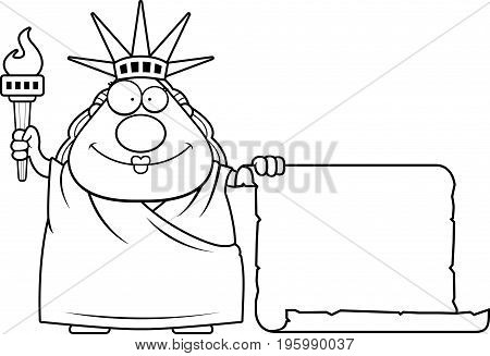 Cartoon Statue Of Liberty Sign
