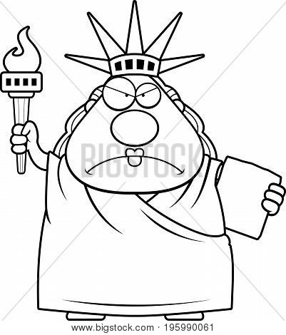 Angry Cartoon Statue Of Liberty