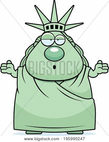 Confused Cartoon Statue Of Liberty