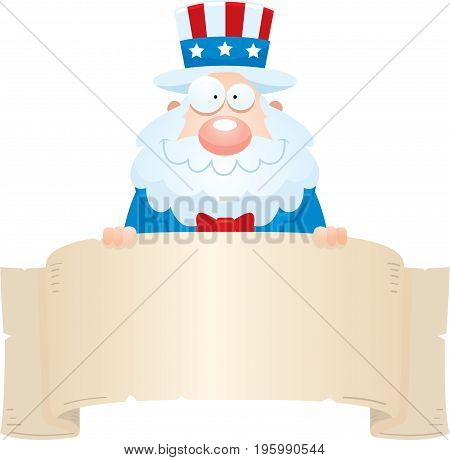 Cartoon Uncle Sam Banner