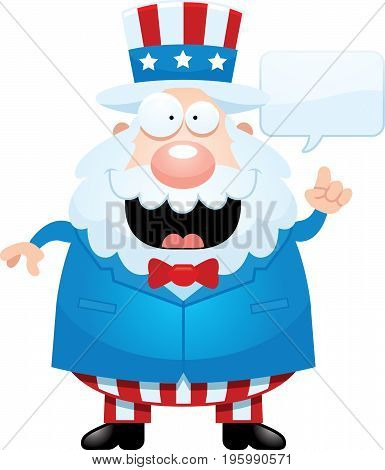 Cartoon Uncle Sam Talking