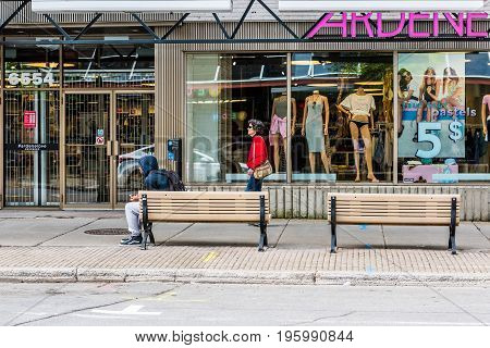 Montreal, Canada - May 27, 2017: Ardene Clothing Apparel Store Entrance And Sign In City In Quebec R