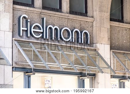 HAMBURG , GERMANY - JULY 14 2017 : The Fielmann store is located close to the townhall in the city of Hamburg