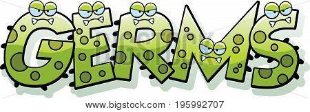 Cartoon Germs Text