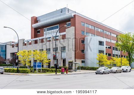 Montreal, Canada - May 27, 2017: Cour Du Quebec Chambre De La Jeunesse Building In City In Quebec