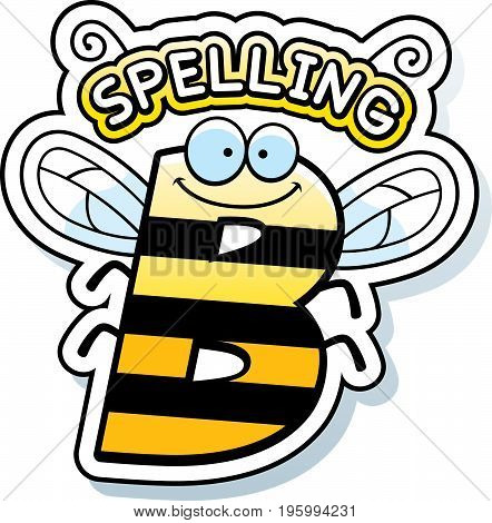 Cartoon Spelling Bee Text