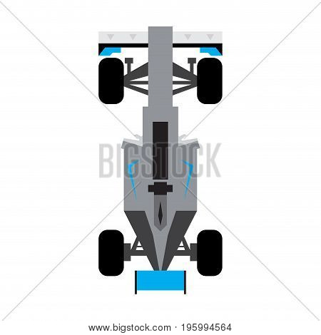 Isolated top view of a racing car, Vector illustration